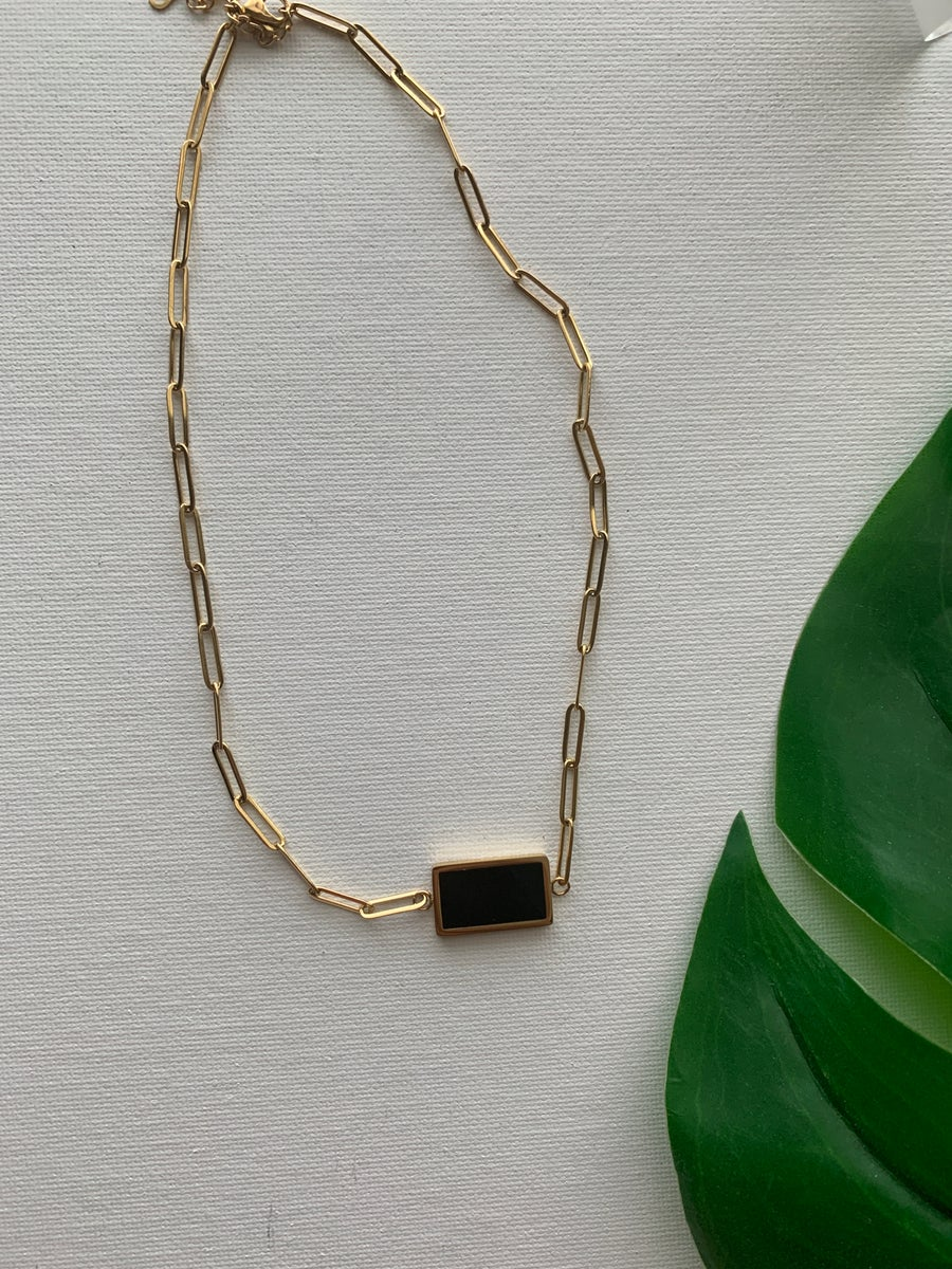 Image of SQUARE BIZ • Two Faced Necklace