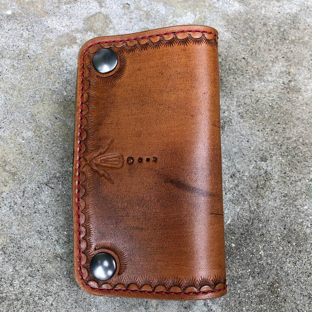 Image of Brown Mid Size Wallet - Ready to ship