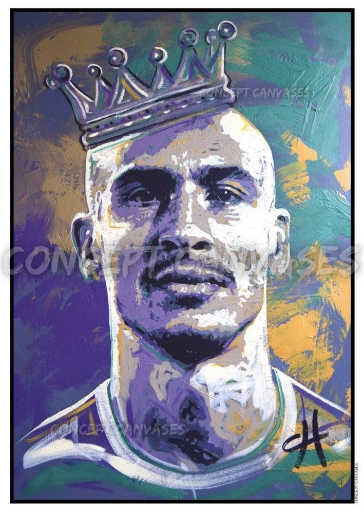 Image of Henrik Larsson 'Crowned King' A3 Print