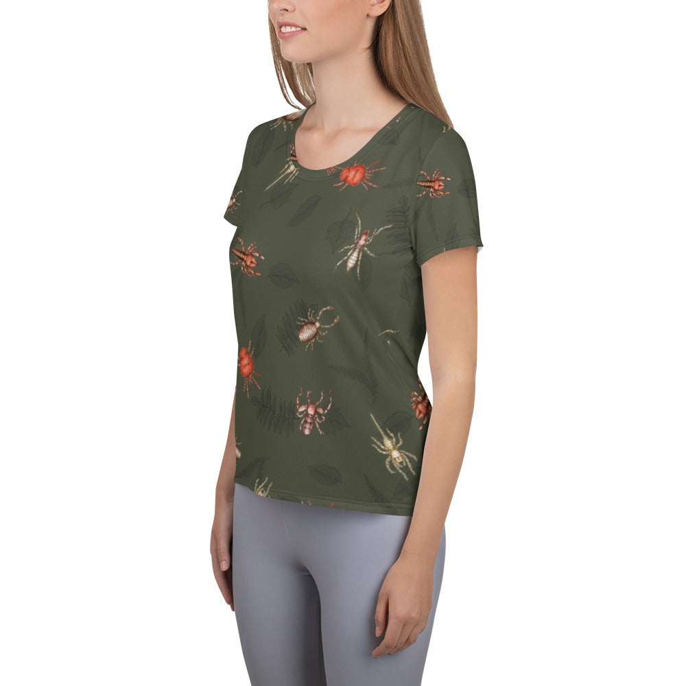 Image of Arachnid Athletic Fitted tee - green