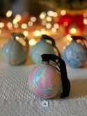 Marbled Ornaments - Jolly