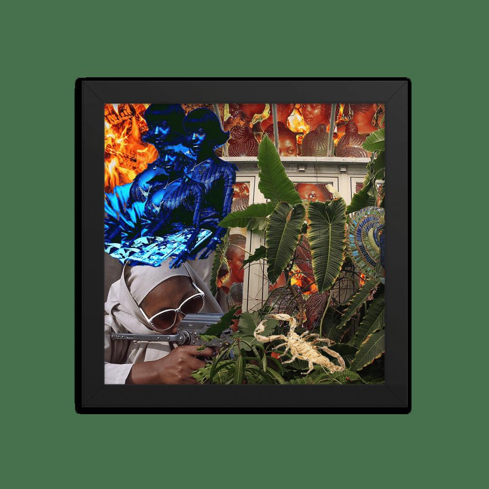 """Libido"" Framed Collage Print"