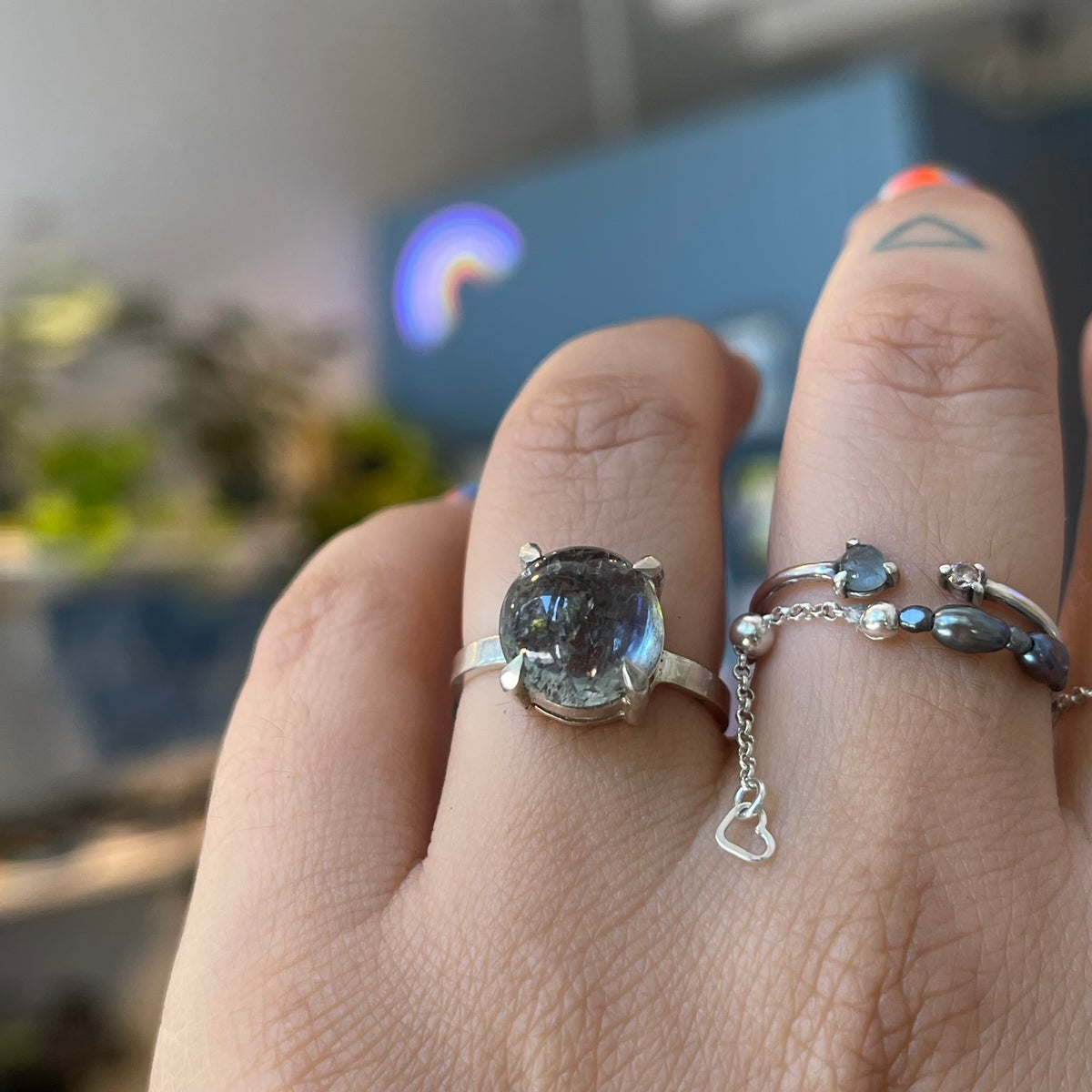 Image of double stone ring