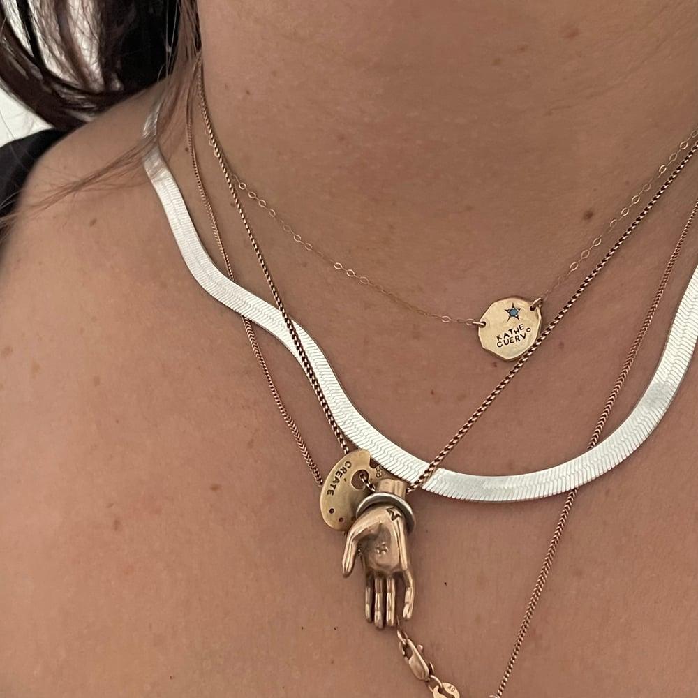 Image of Herringbone and strawberry chain