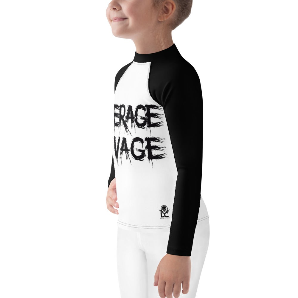 Image of Roll Hard in the Paint Kids Long Sleeve Rash Guard