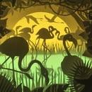 Image 1 of Dancing Flamingos Theme Light