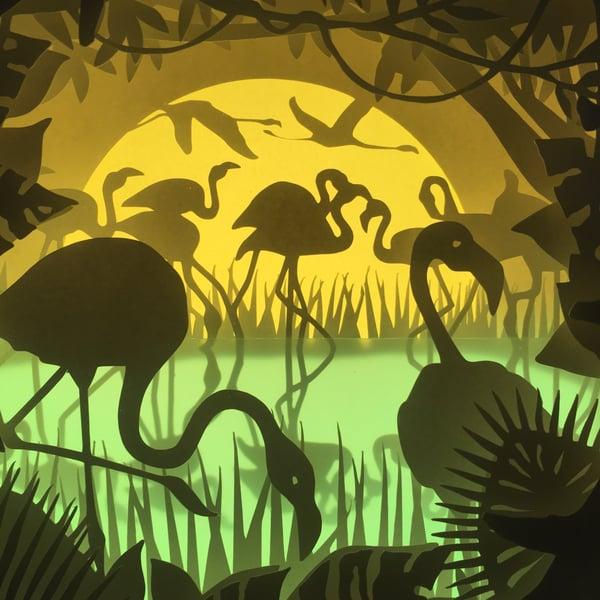 Image of Dancing Flamingos Theme Light