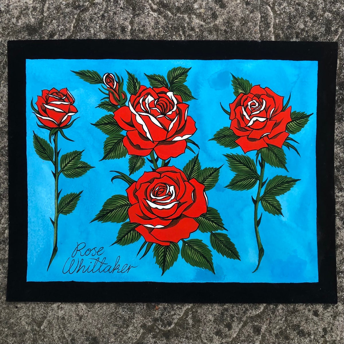 Image of Red roses original painting