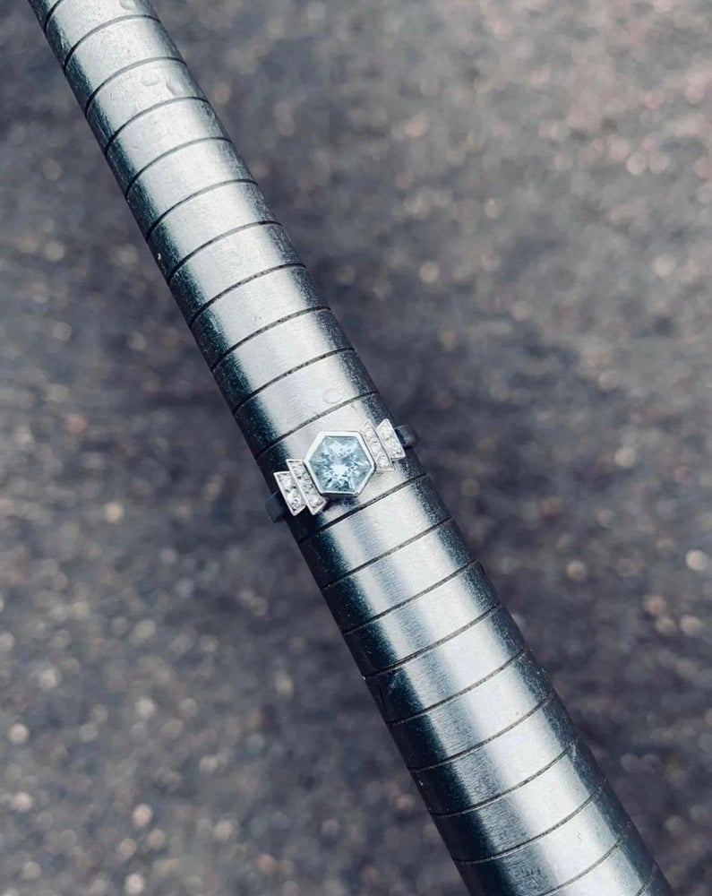 Image of 9ct White Gold Art Deco Ring
