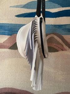 Image of #1708 White Fringe Fanny