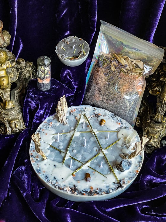 Image of Protection Ritual, Candles, Ritual Bath Salts & Spell Jars - Ancient Pathways And Traditions