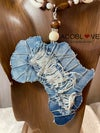 Denim of Africa Earring and Necklace set