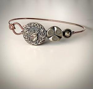 "Image of ""The Stag"" Vintage Button Bracelet"