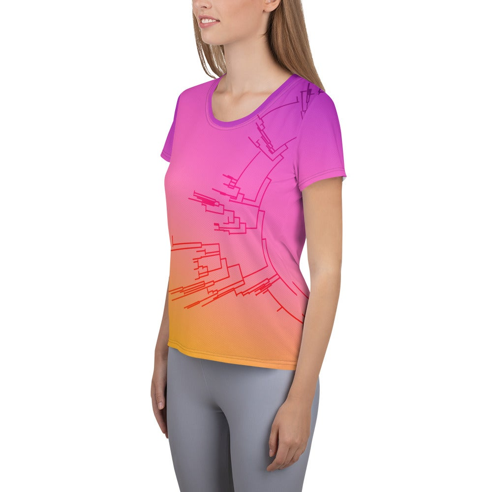 Image of Circular Phylogeny Fitted Athletic T-shirt