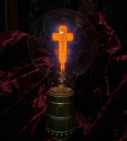 Image of Round Cross Lightbulb