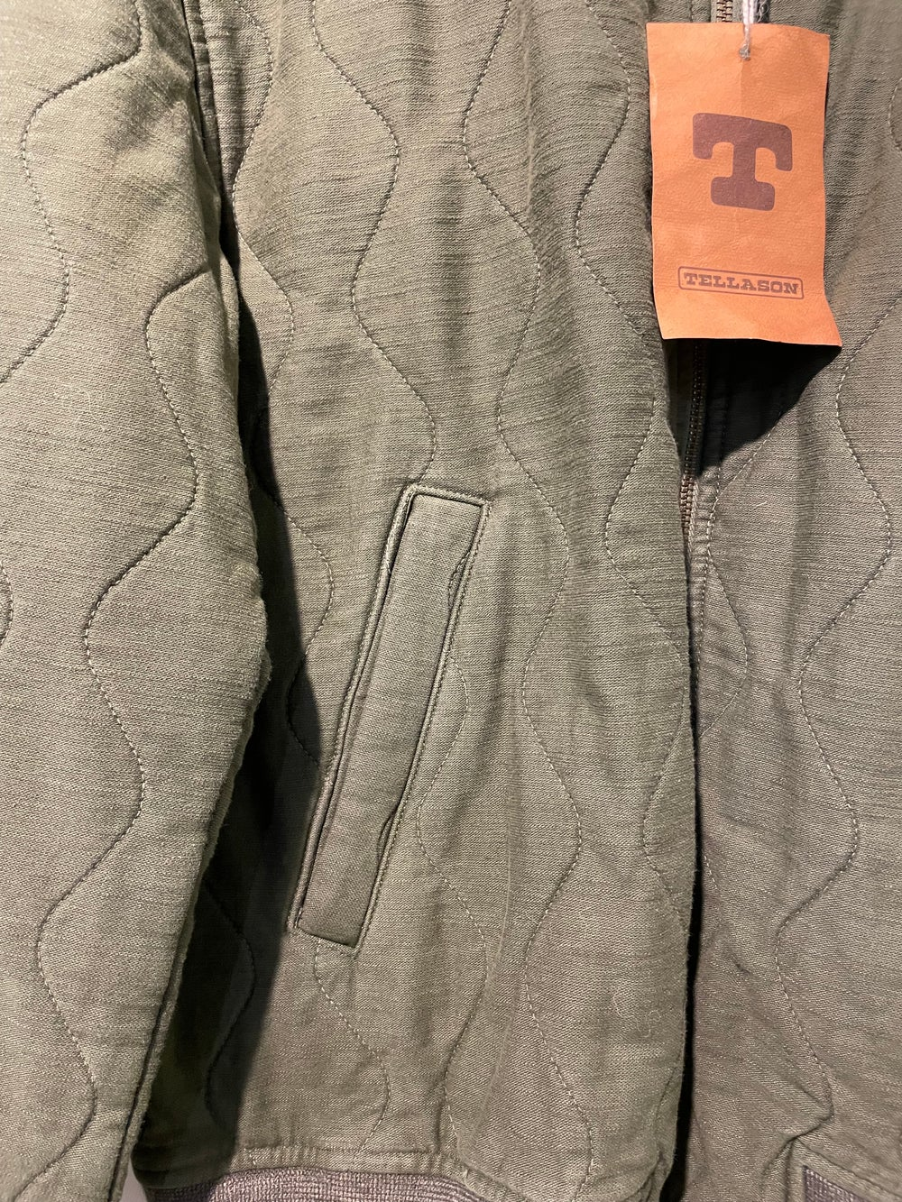 Tellason   Quilted Bomber Jacket   olive