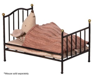 Image of Maileg - Vintage Bed Mouse Anthracite (Pre-order)