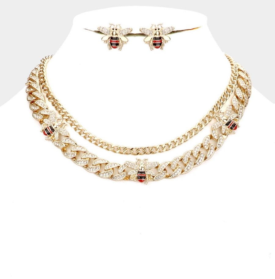 Image of Bee Layer Necklace Set