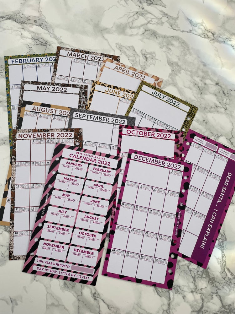Image of PETITE PLANNER - MONTHLY CALENDAR 2022 INSERTS