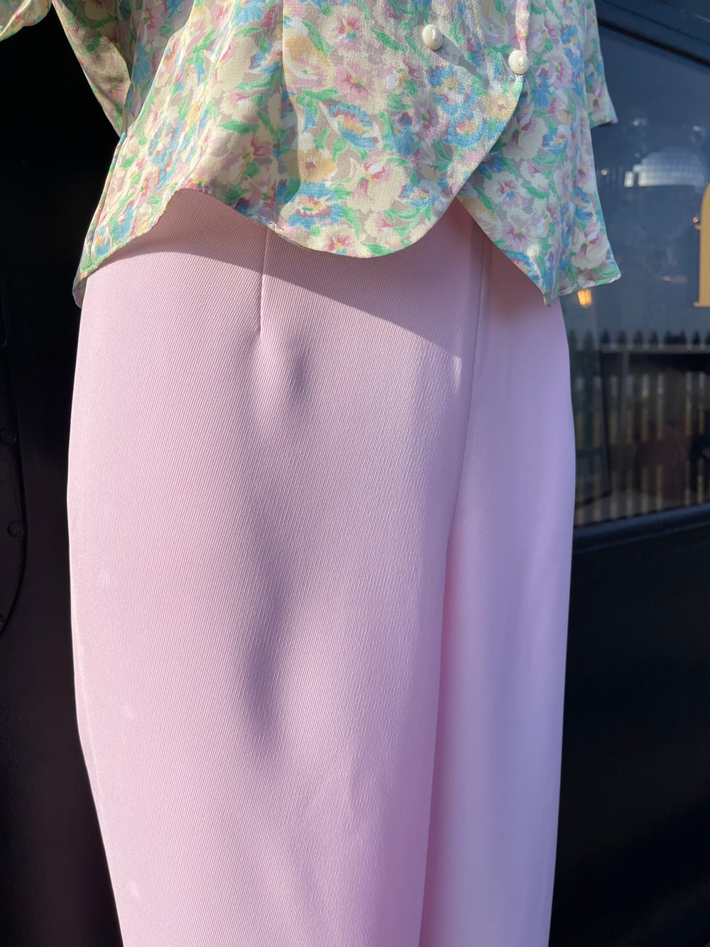 Image of 80's Chalky Pink High Waist Trousers 14-16