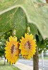 Sunflower Goddess Earrings