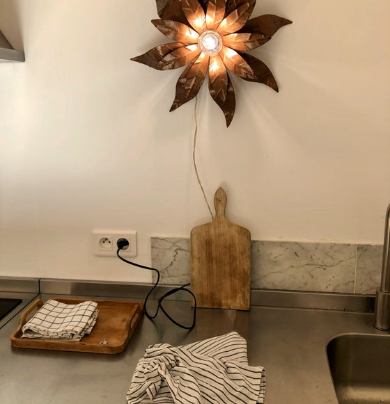 Image of Lampe Applique fleur