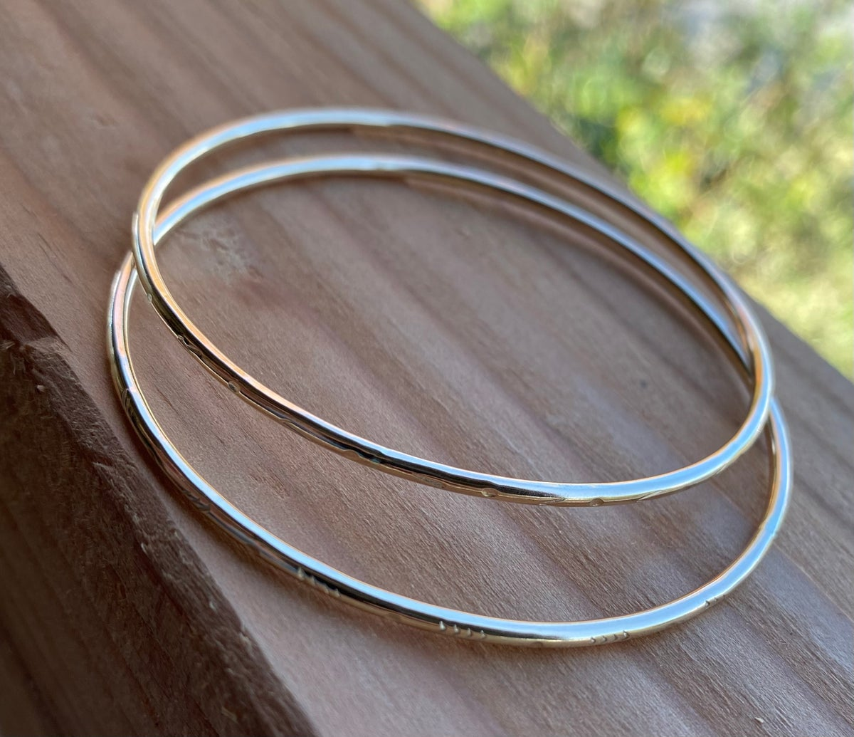Image of Thick 14k Gold Filled Bangle