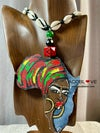 African Queen Earring and Necklace Set
