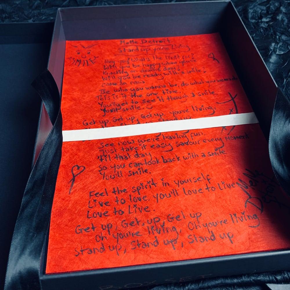 Image of Special Edition Lyric sheet BoxSets