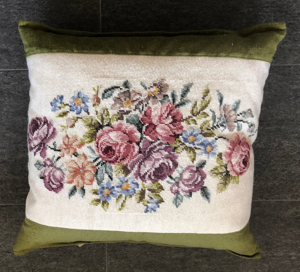 Image of Old French Tapestry Floral Cushion
