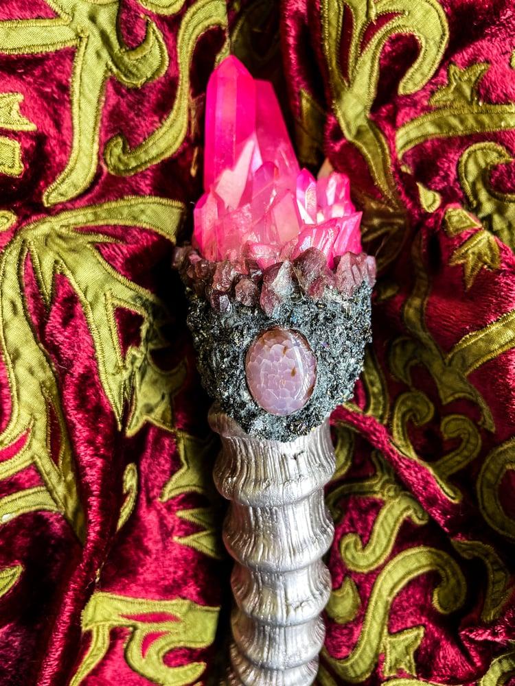 Image of Rose Gold & Pink Aura Quartz - Ritual Rattler