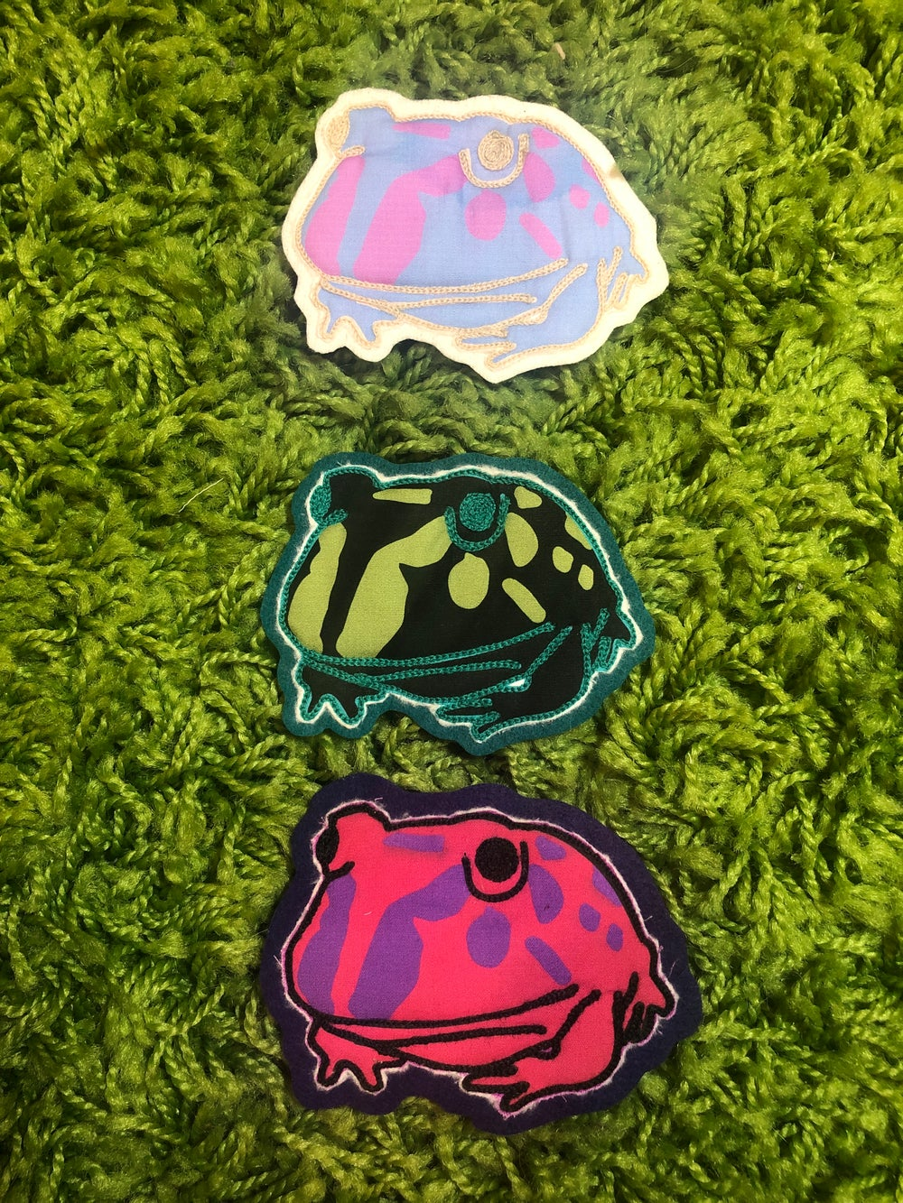 Image of Thicc Frog Chainstitch Patch