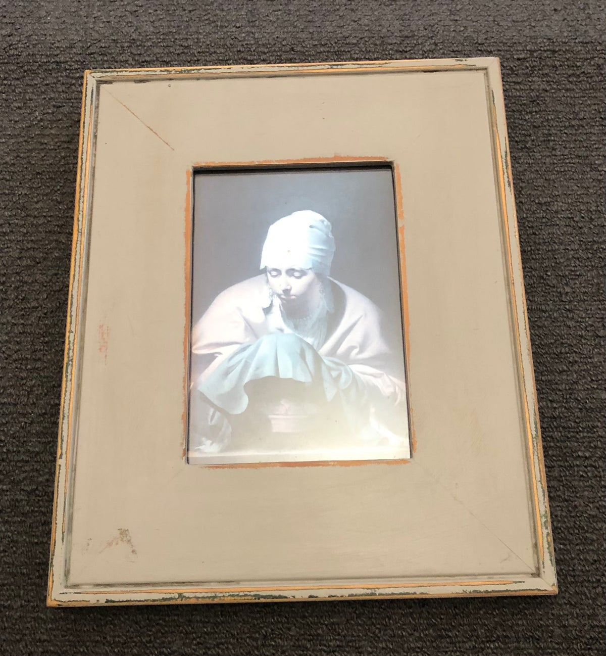 Image of Handpainted Frame with Picture