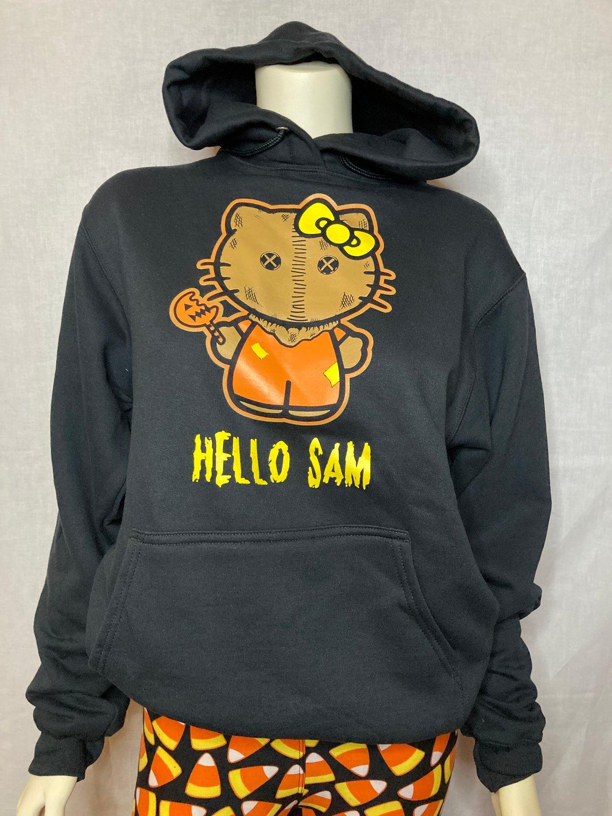 "Unisex ""Hello Sam"" Black Hoodie"
