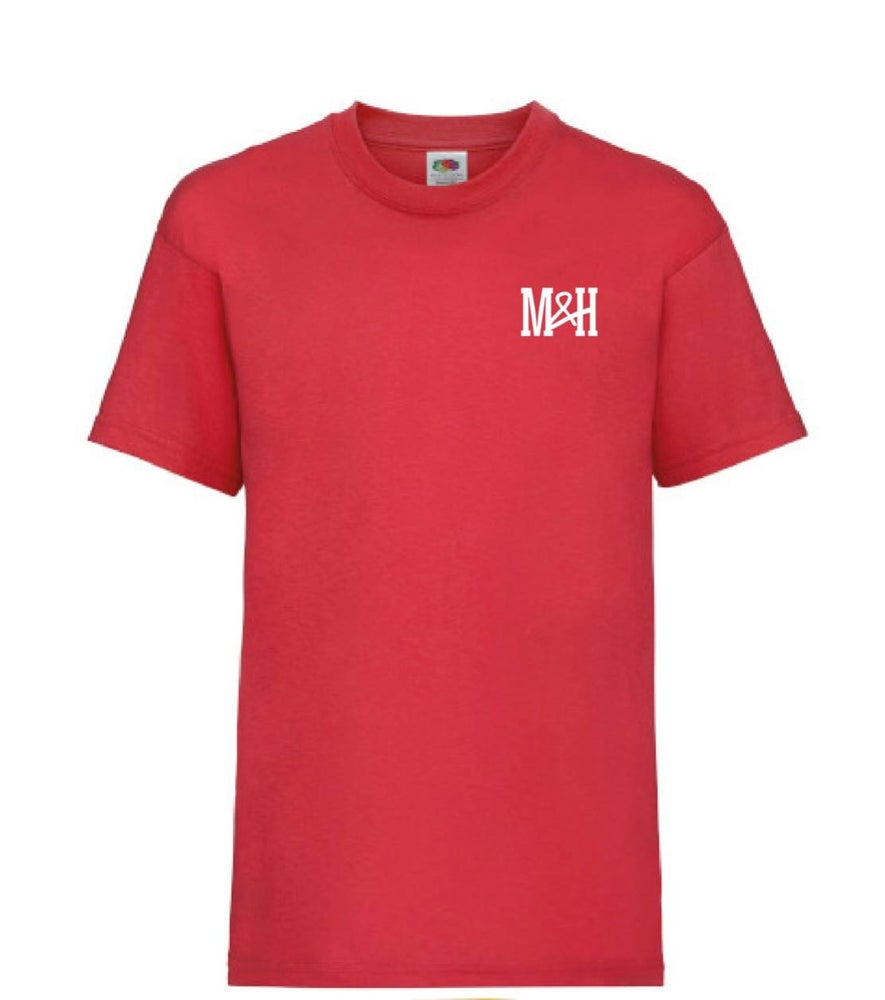 Image of Red M&H tshirt