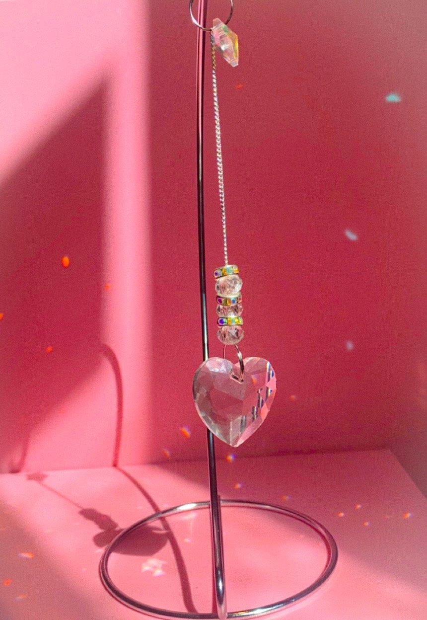 Image of simple elegant heart sun-catchers
