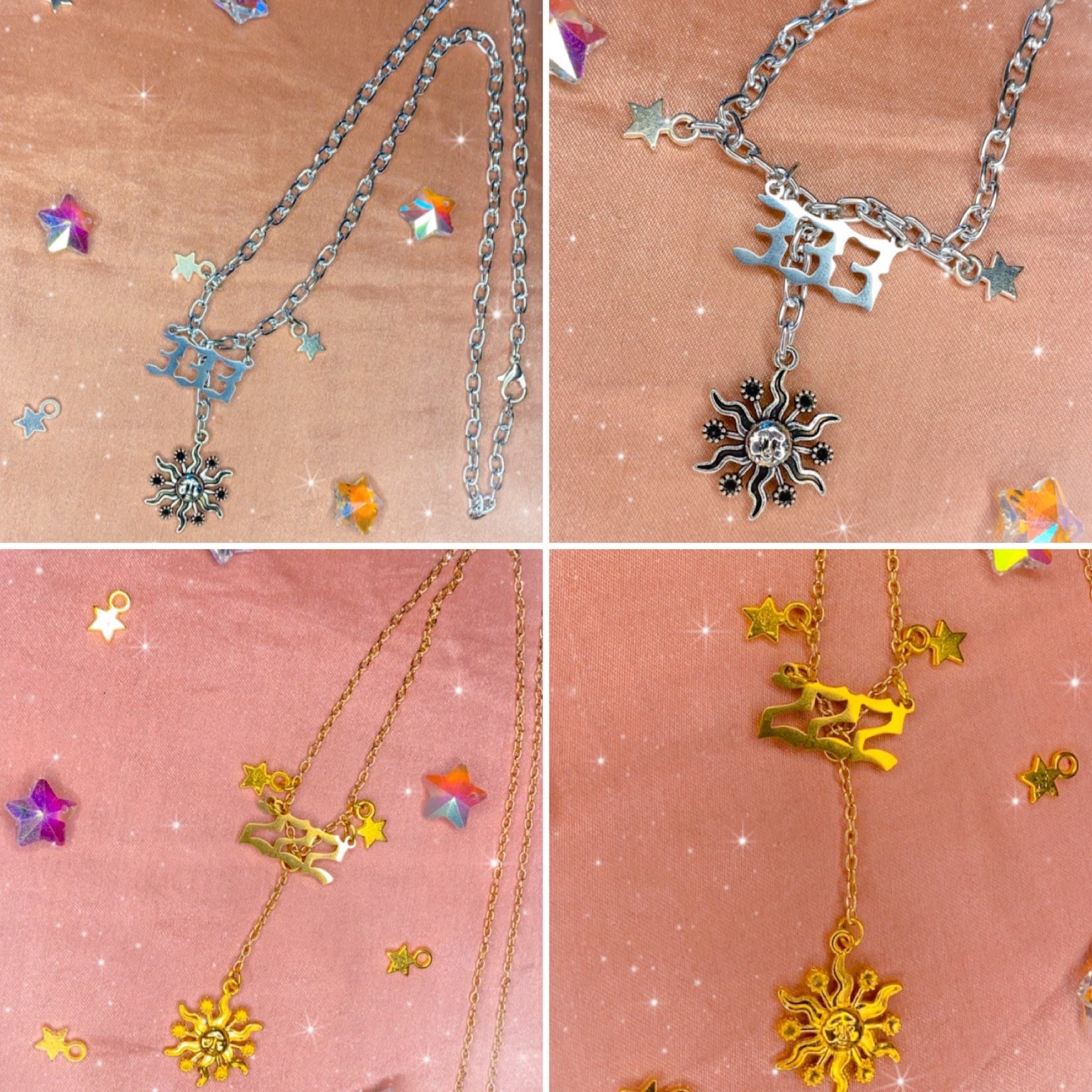 Image of angel number necklaces (silver and gold)