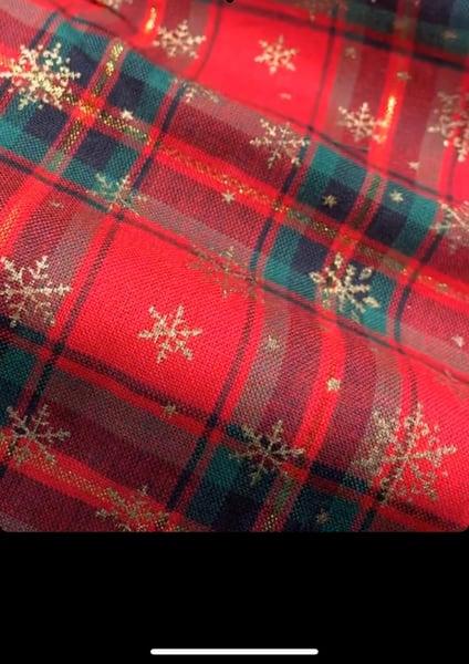 Image of Christmas tartan- golden weave