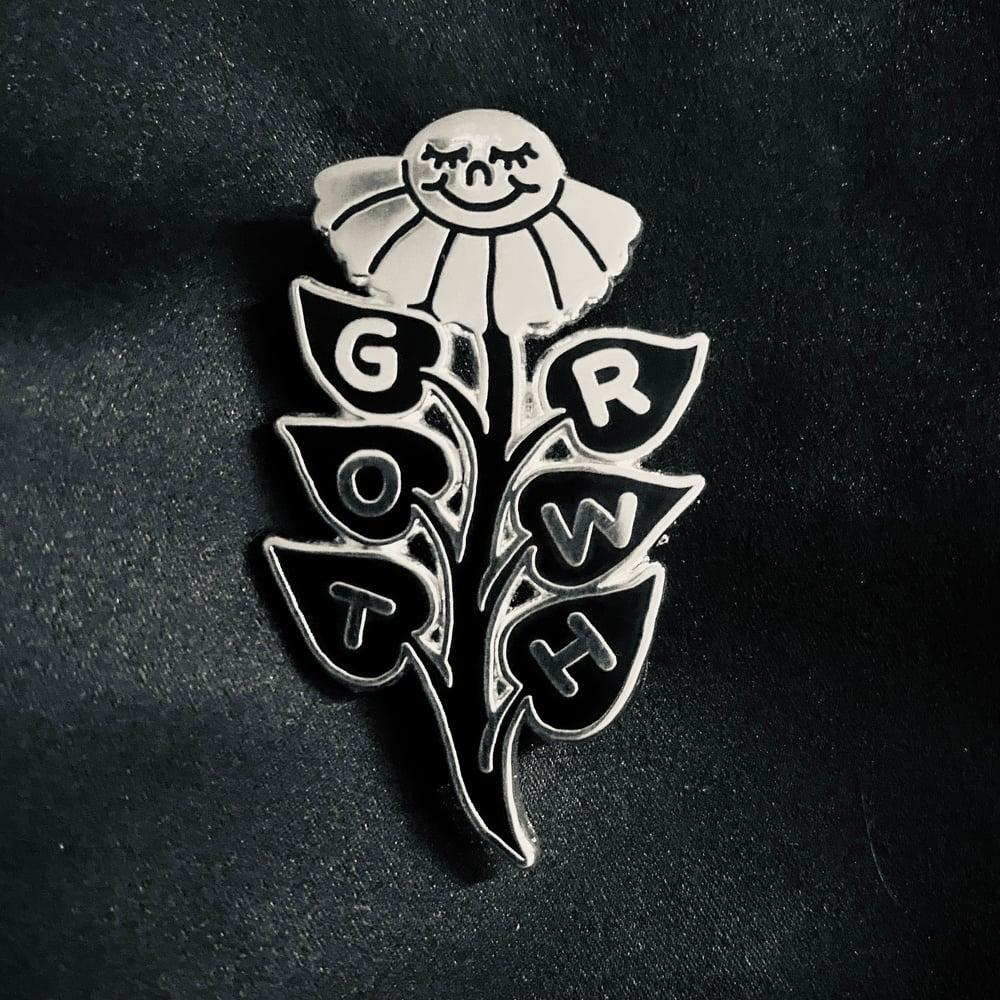 Image of G-R-O-W-T-H  hard enamel pin