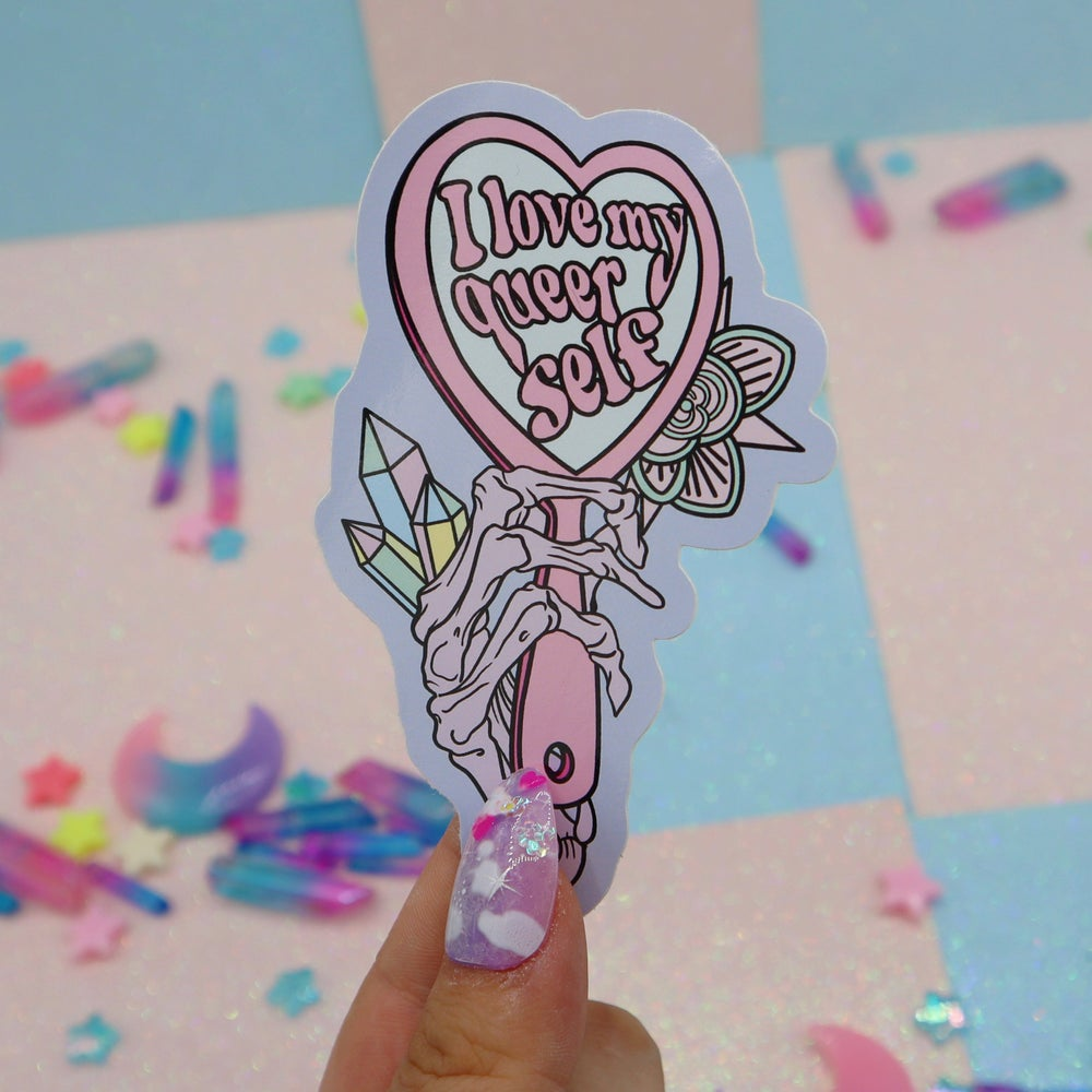 Image of I Love My Queer Self Large Vinyl Sticker