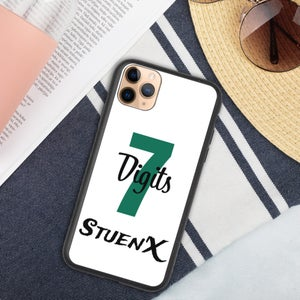 Image of 7 Digits on White Biodegradable phone case