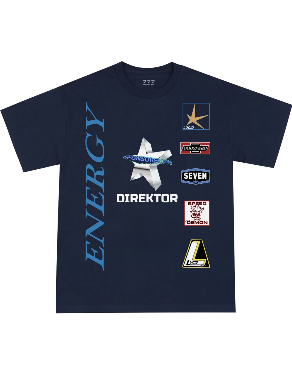 Image of SPONSORED BY TEE (NAVY)