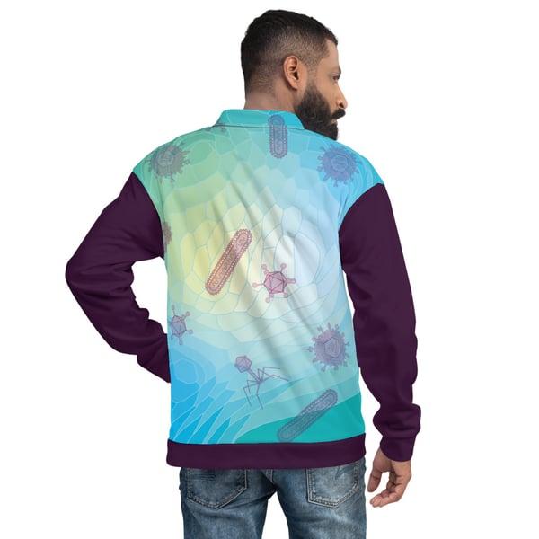 Image of Blue Virus Unisex Bomber Jacket