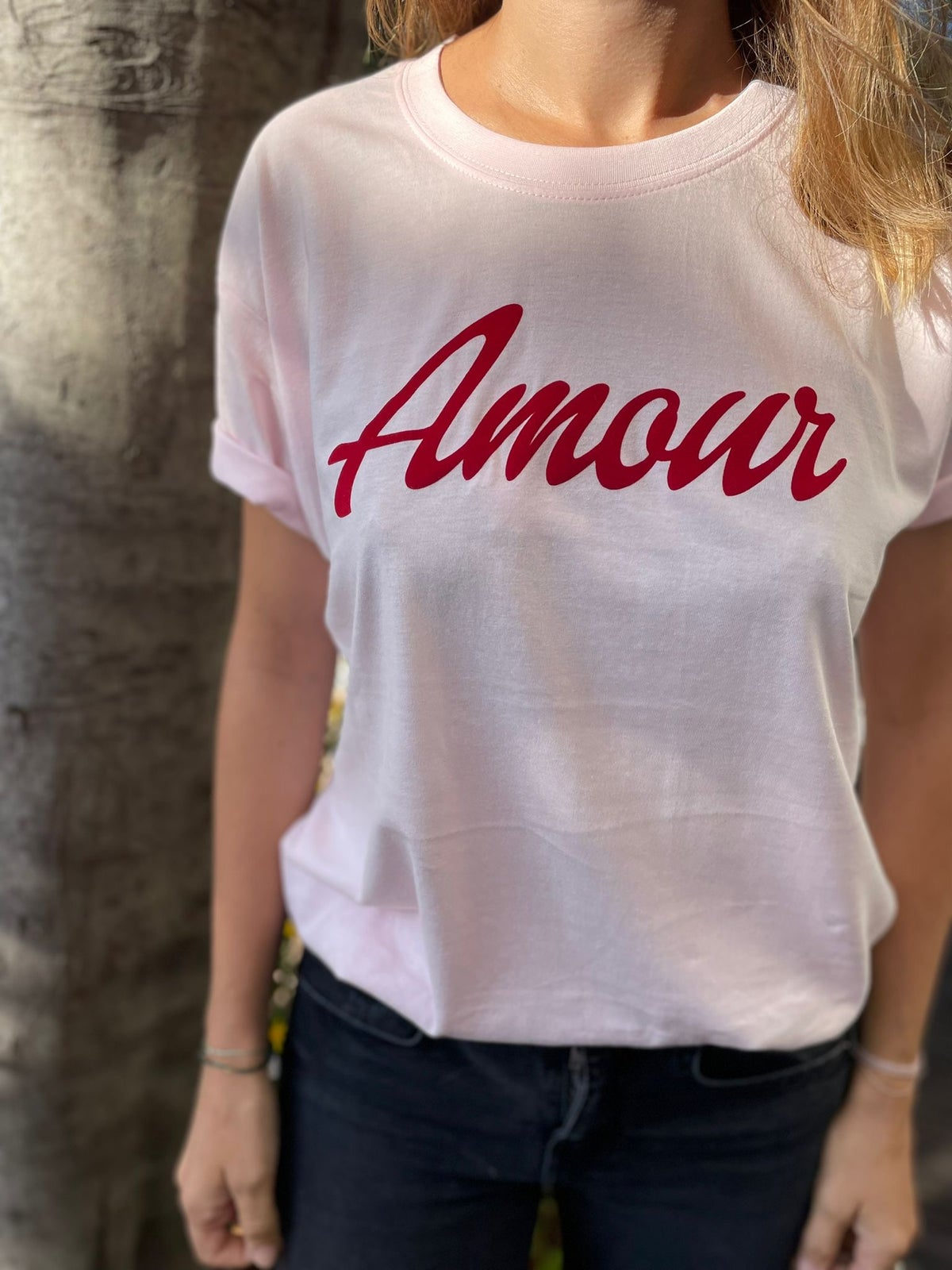 Image of Tee Shirt Amour Collab Pharma Anglo Francaise Cannes