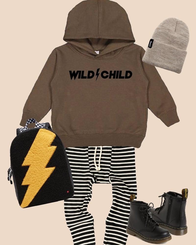 Image of WILD CHILD SWEATSHIRT (MILITARY GREEN)