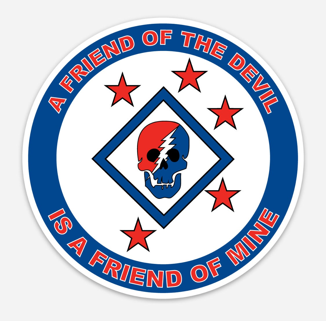 Image of A Freind of the Devil is a Friend of Mine Decal