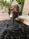 Black Tourmaline in Matrix on Metal Stand
