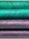 Marbled Paper Amethyst & Marrs Green - 1/2 sheets
