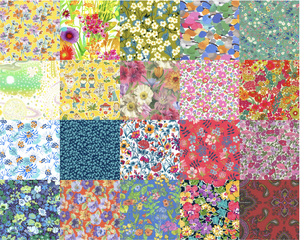 Image of 2.5 Inch Charm Squares - Bold Rainbow