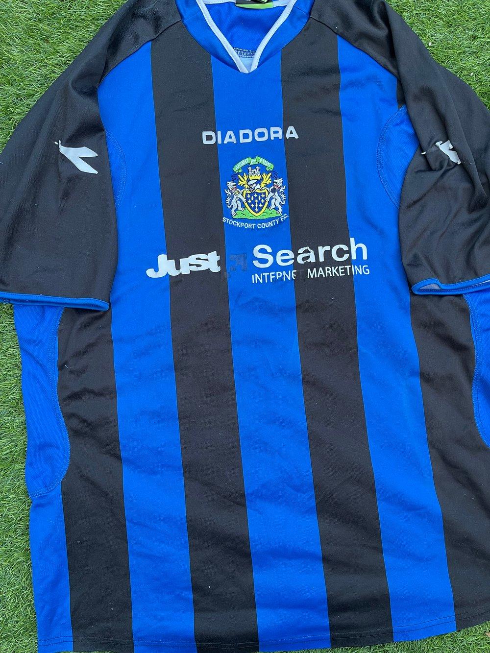 Match Worn 2007 Diadora Pre-Season Shirt